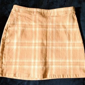Forever 21 NWT Short Skirt Small Pink Plaid